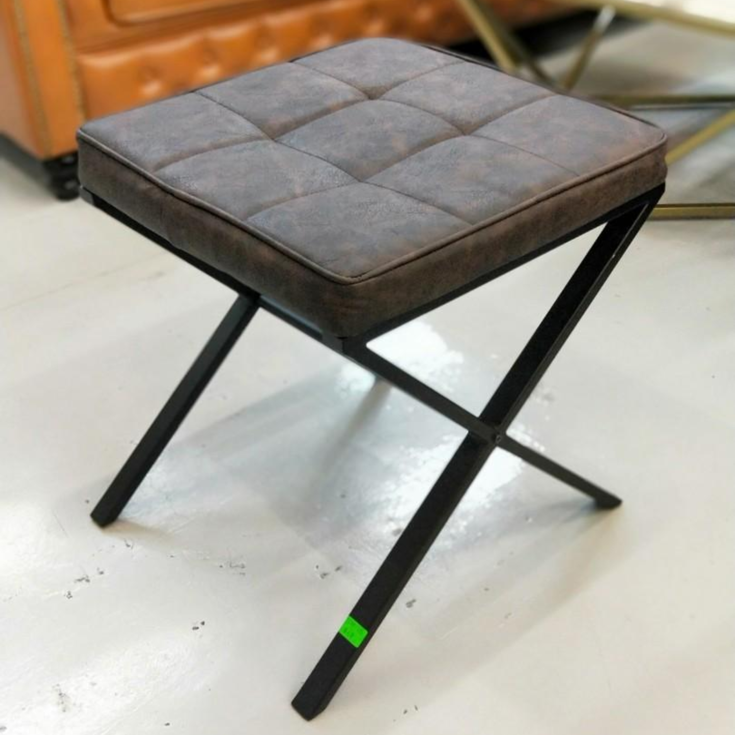 STRAND INDUSTRI SERIES Square Stool