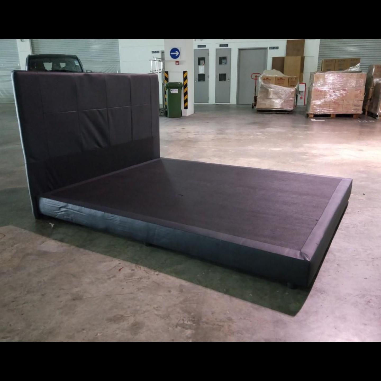 BRAVA Queen Bedframe in BLACK PVC