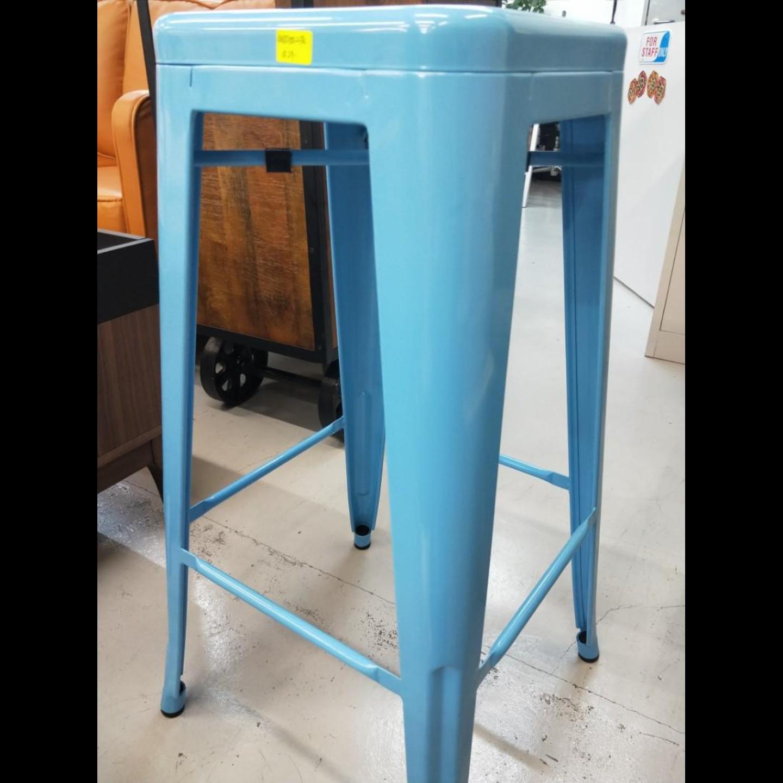 DENVER Metal Bar Stool in BABY BLUE