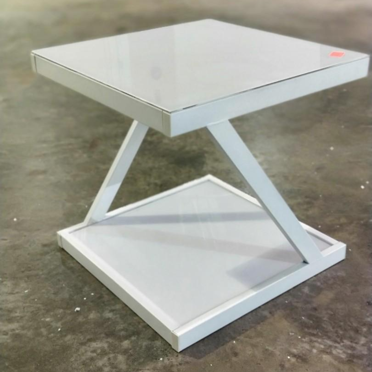 RENZO Z Tempered Glass Side Coffee Table