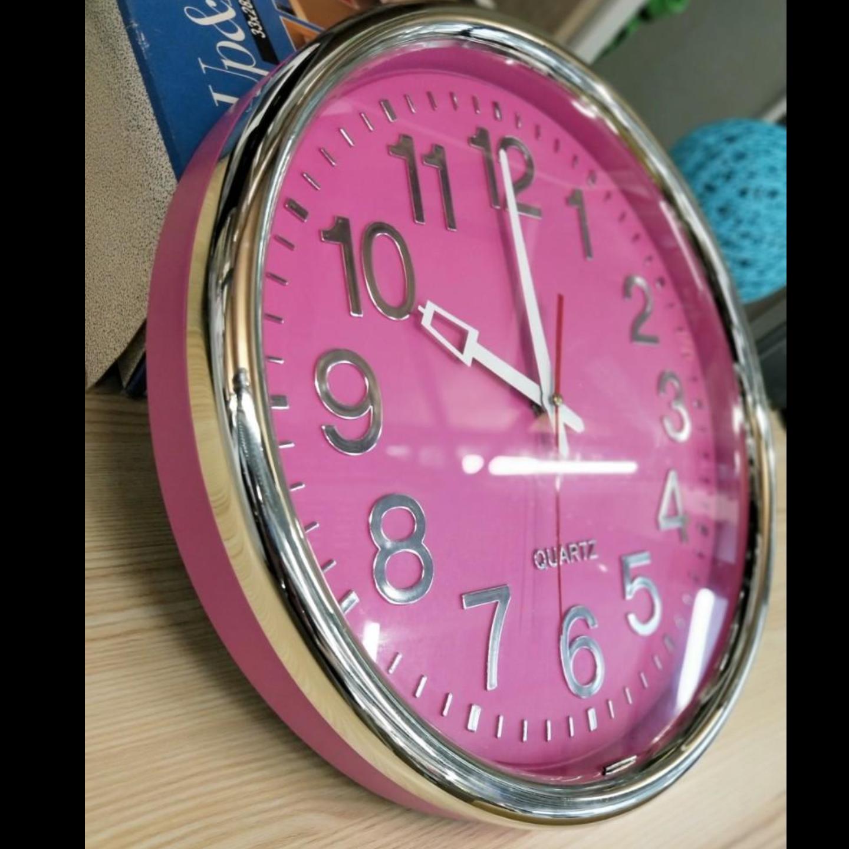 CLICK-CLOCK MODENA Pink Clock 38cm