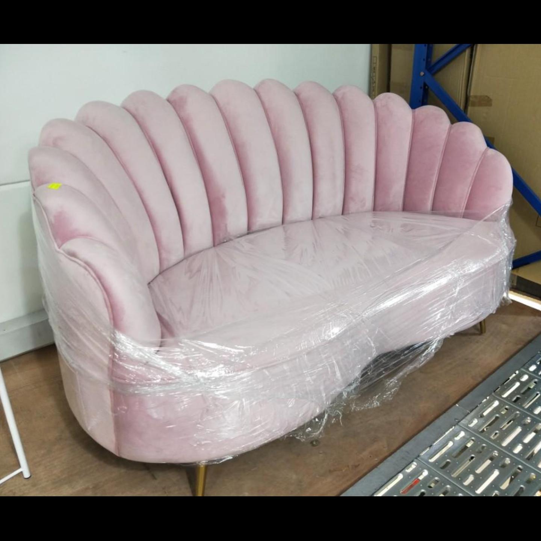 DELPHI 2 Seater Velvet Sofa in PINK