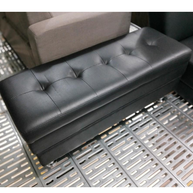 EVOCA Black Storage Bench