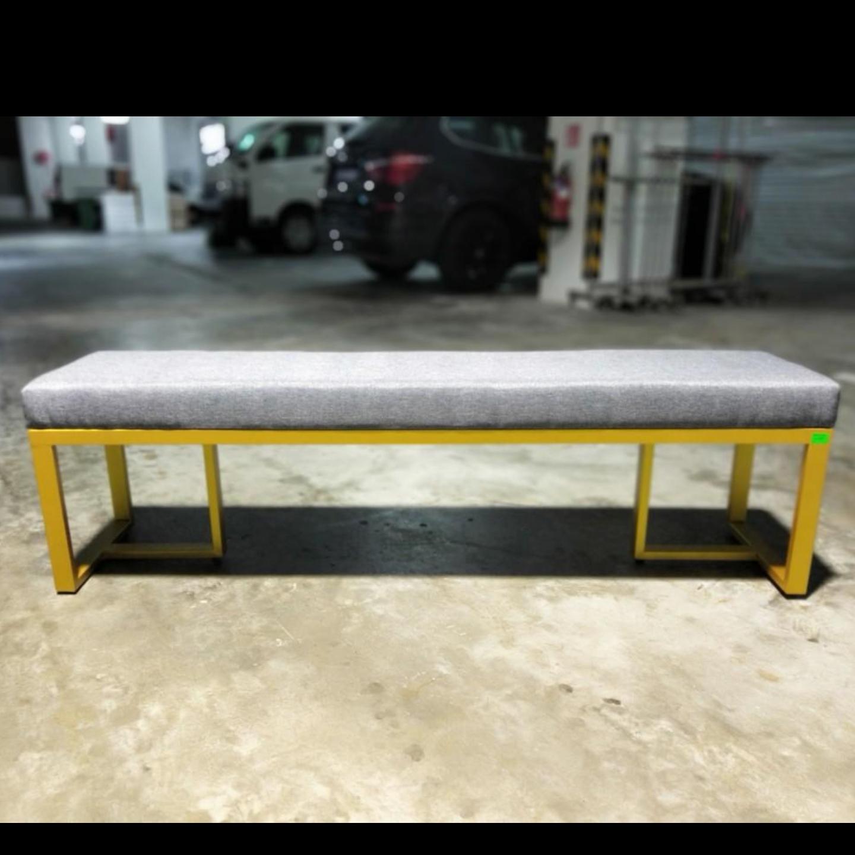 LIVIEN Modern PU Leather Dining Bench