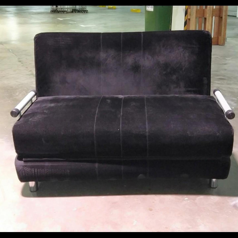 CHERMOLY Sofa Bed in BLACK VELVET