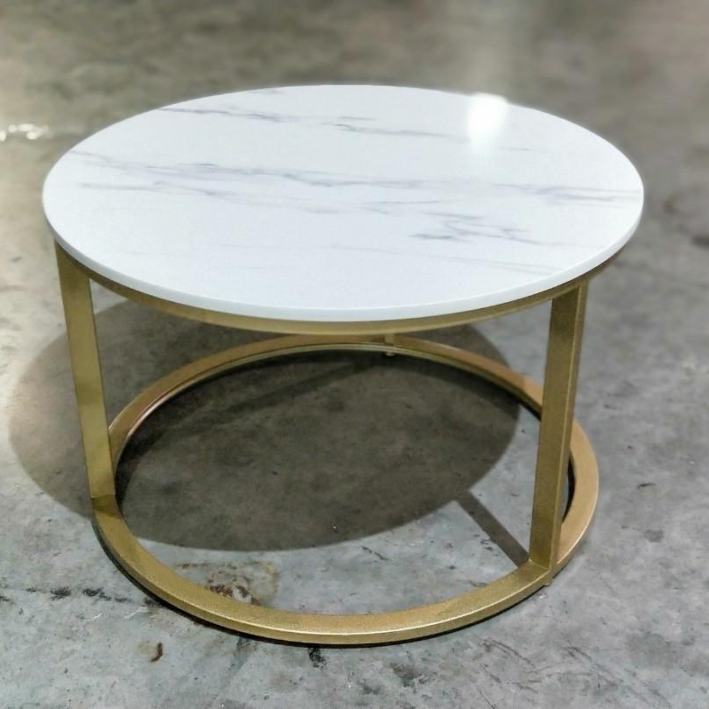 EZILL Modern Marble Round Table SML