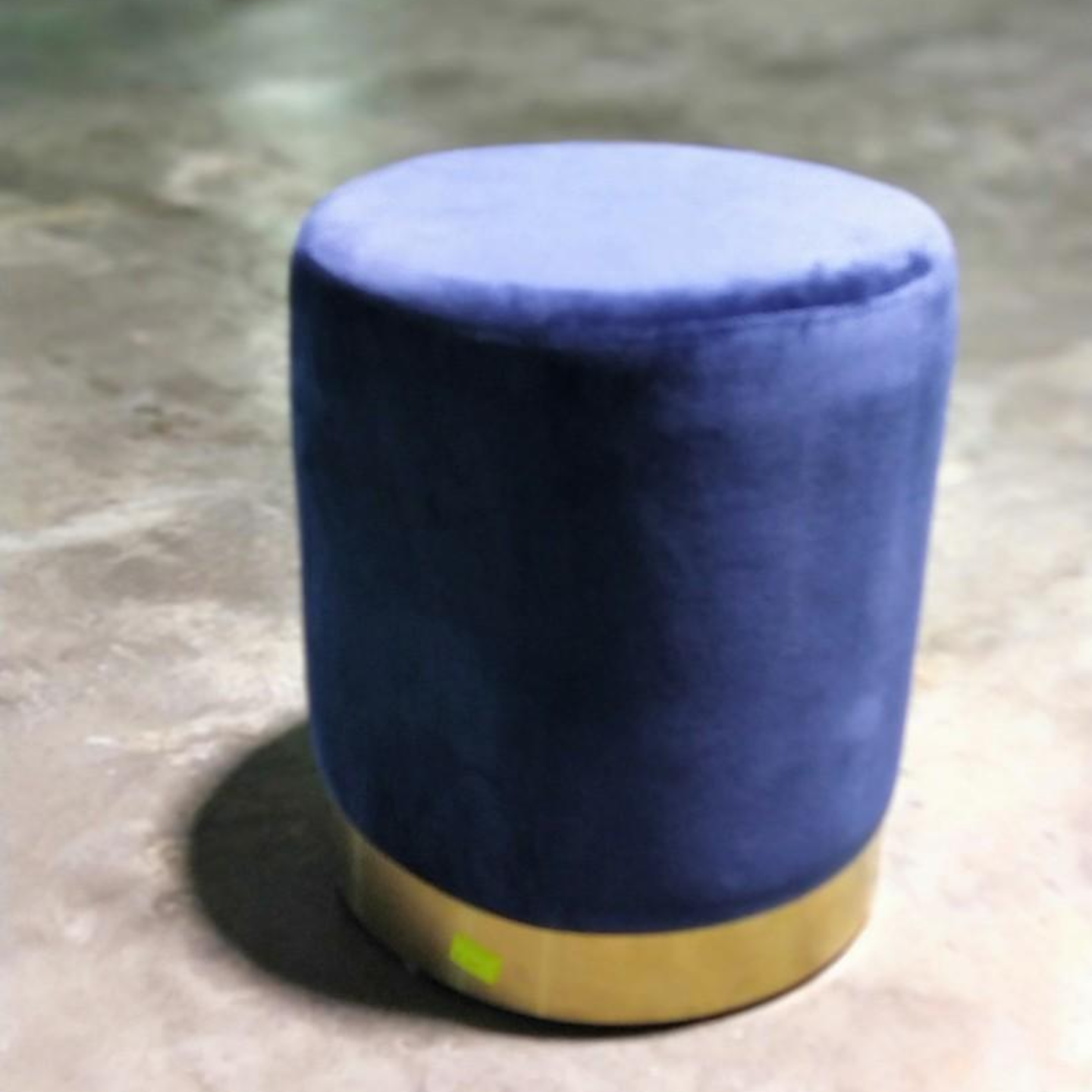 FANEVIO VELVET Ottoman with GOLD base