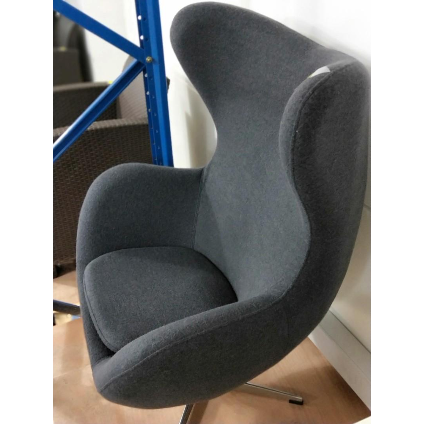 PROMETHEUS Designer Replica Egg Chair in CHARCOAL