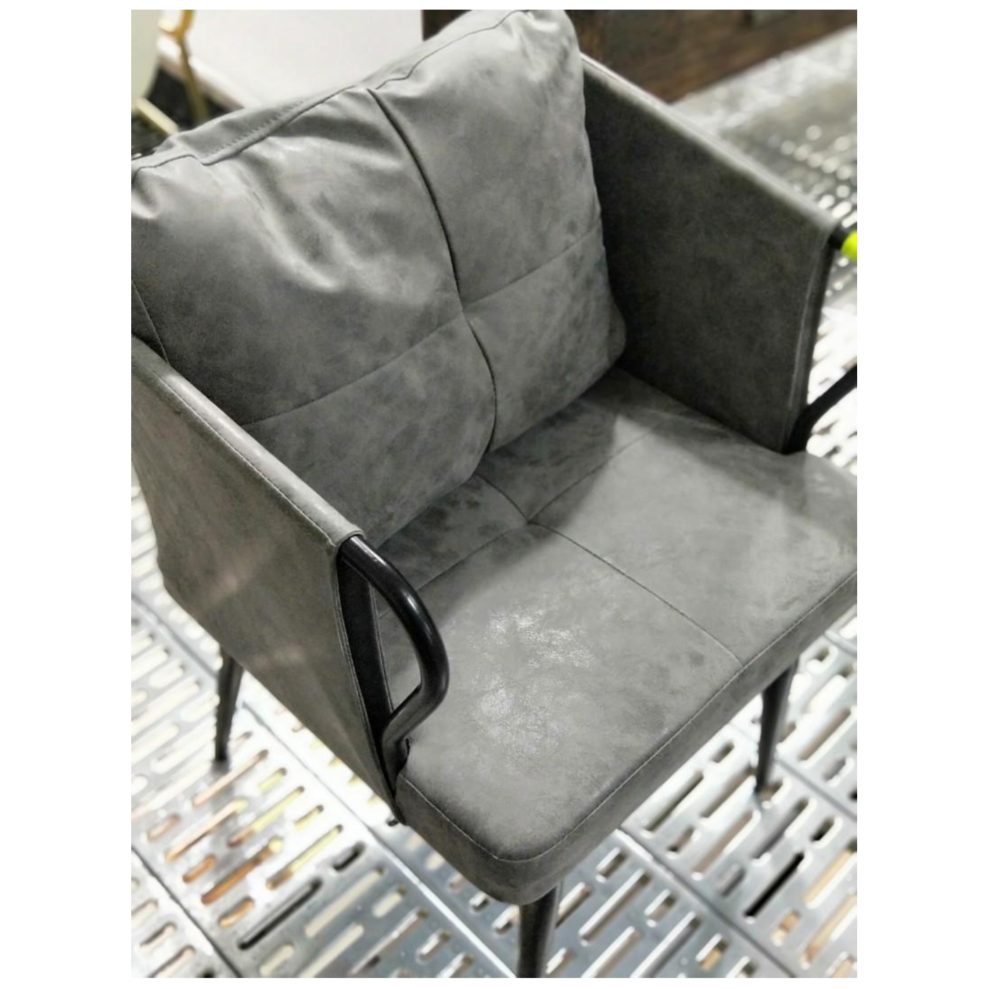 LOWNDES INDUSTRI Series Armchair in GREY