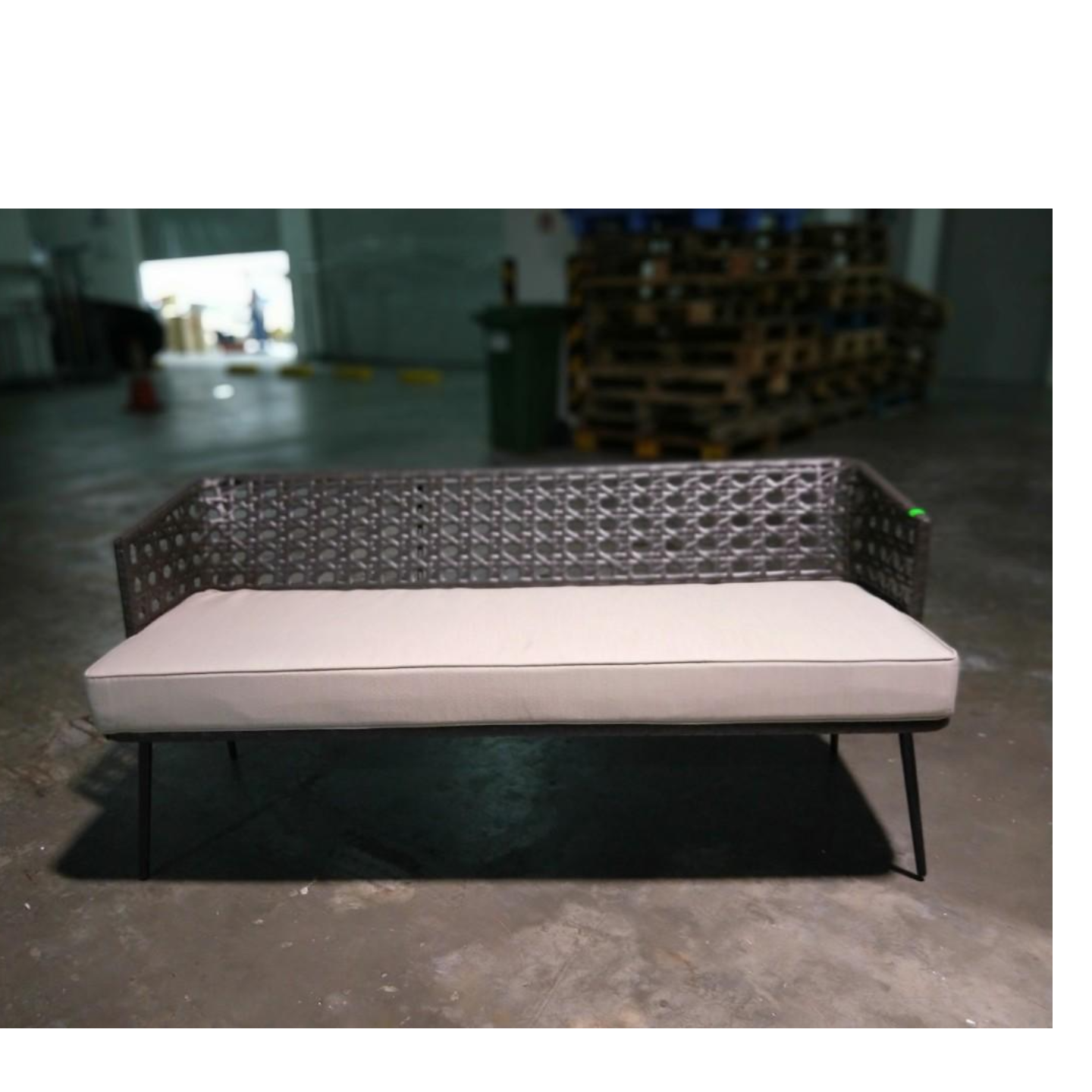 LORALE Wicker Patio Sofa
