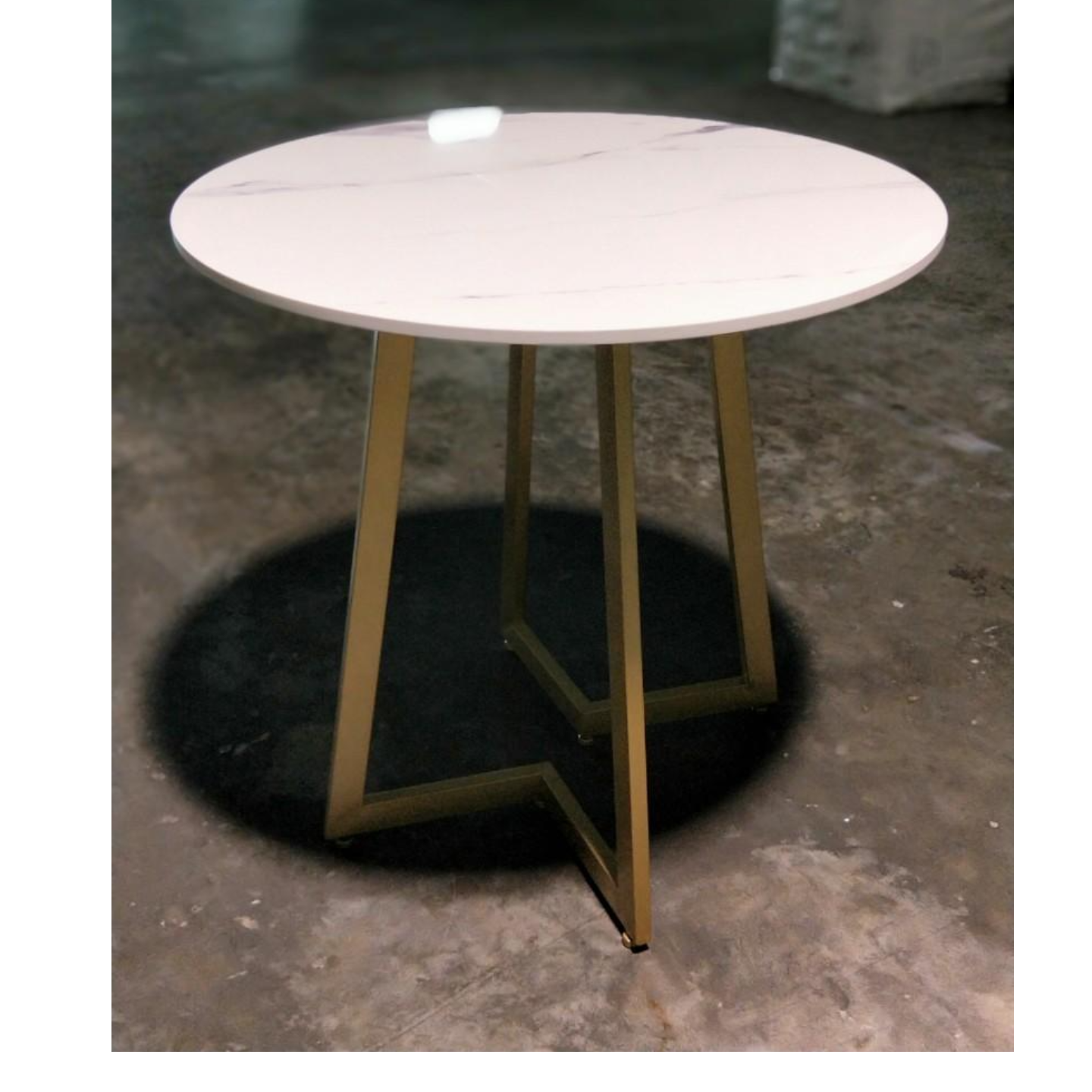 YELA Modern Round Marble Dining Table