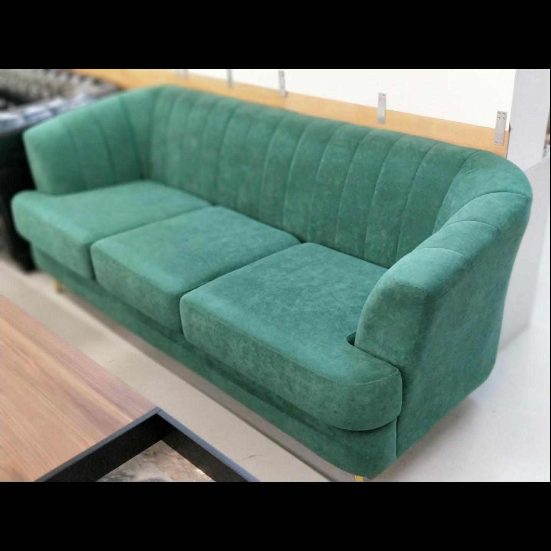 KOEN Designer 3 Seater Sofa in VELVET GREEN