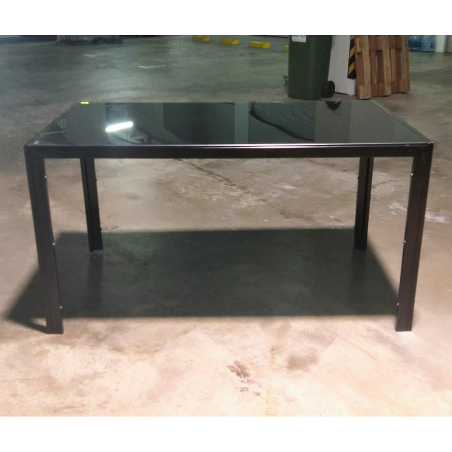 Shona Black Tempered Glass Dining Table