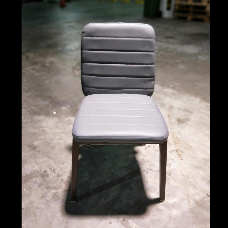 ZETA Dining Chair Grey PU
