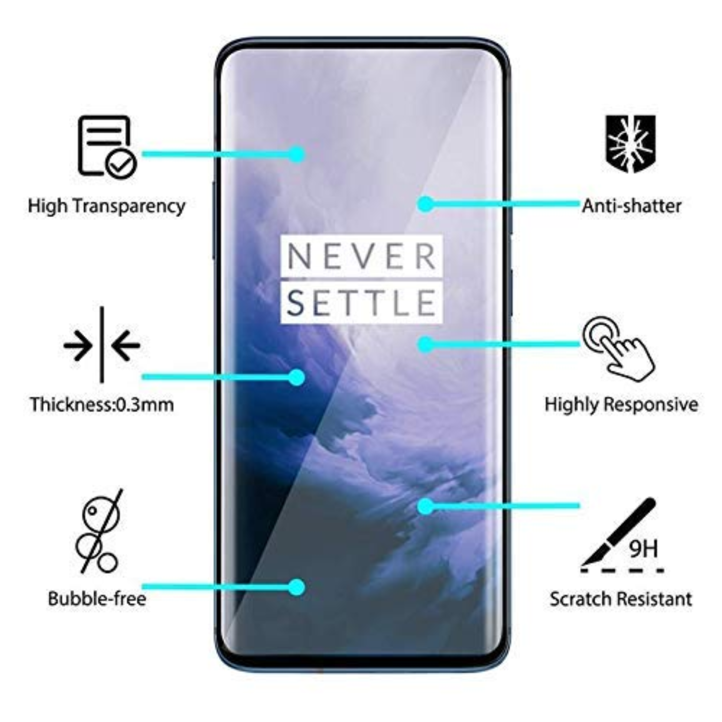 Tempered Glass for OnePlus 7 Pro Advanced Border-Less Full Edge to Edge UV Screen Protector with Installation kit - (Pack of 1) (Oneplus 7 Pro Uv Tempered Glass- 1 Pack)