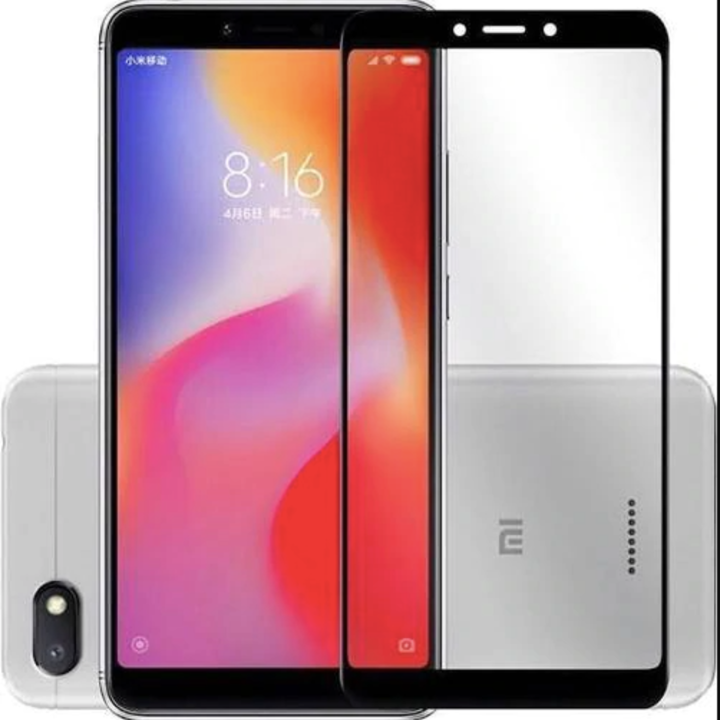 11D Tempered Glass Full Edge-to-Edge Screen Guard For Xiaomi Redmi 6 (Black)