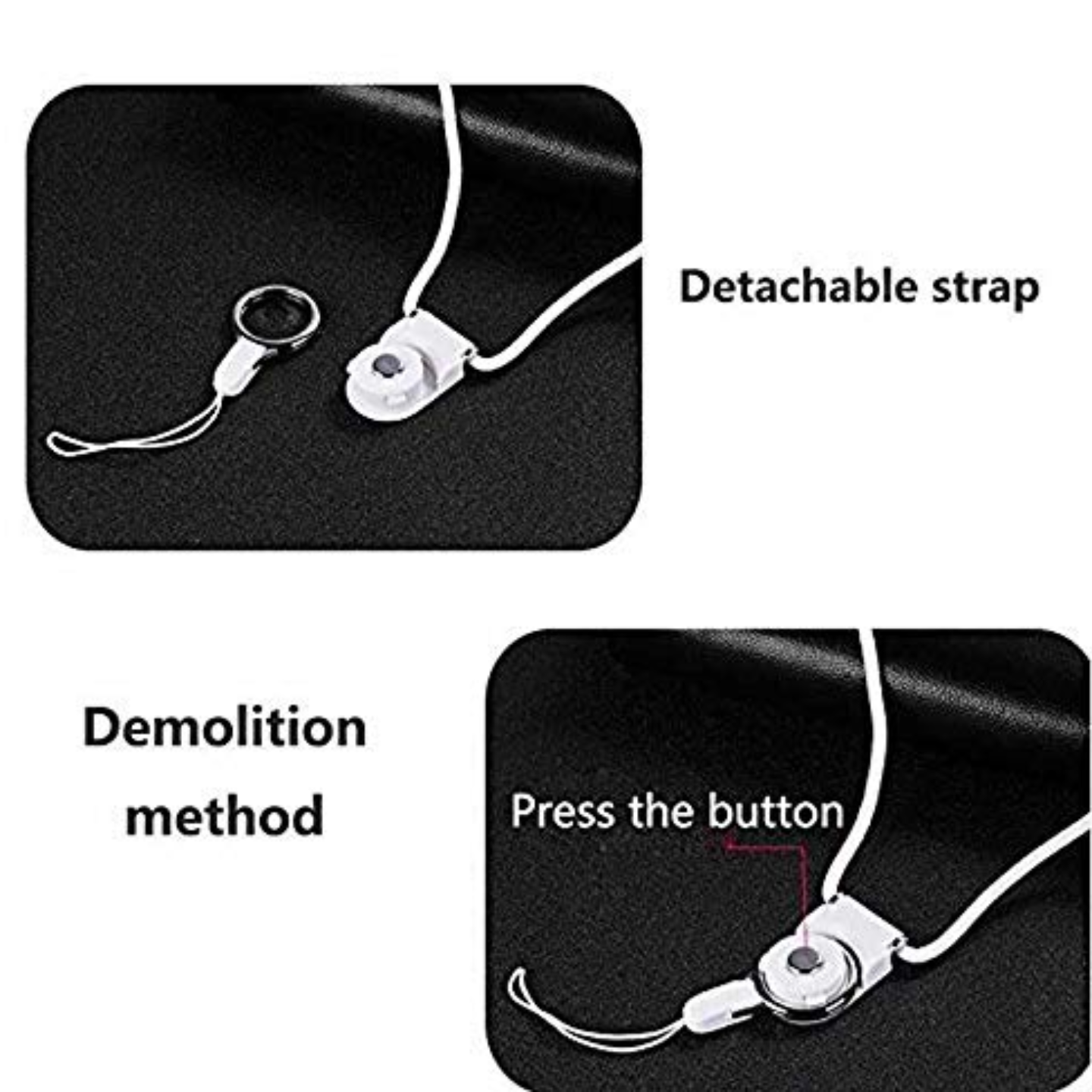 Rbotronics Neck Strap Mobile Phone Holder (2 Pieces)