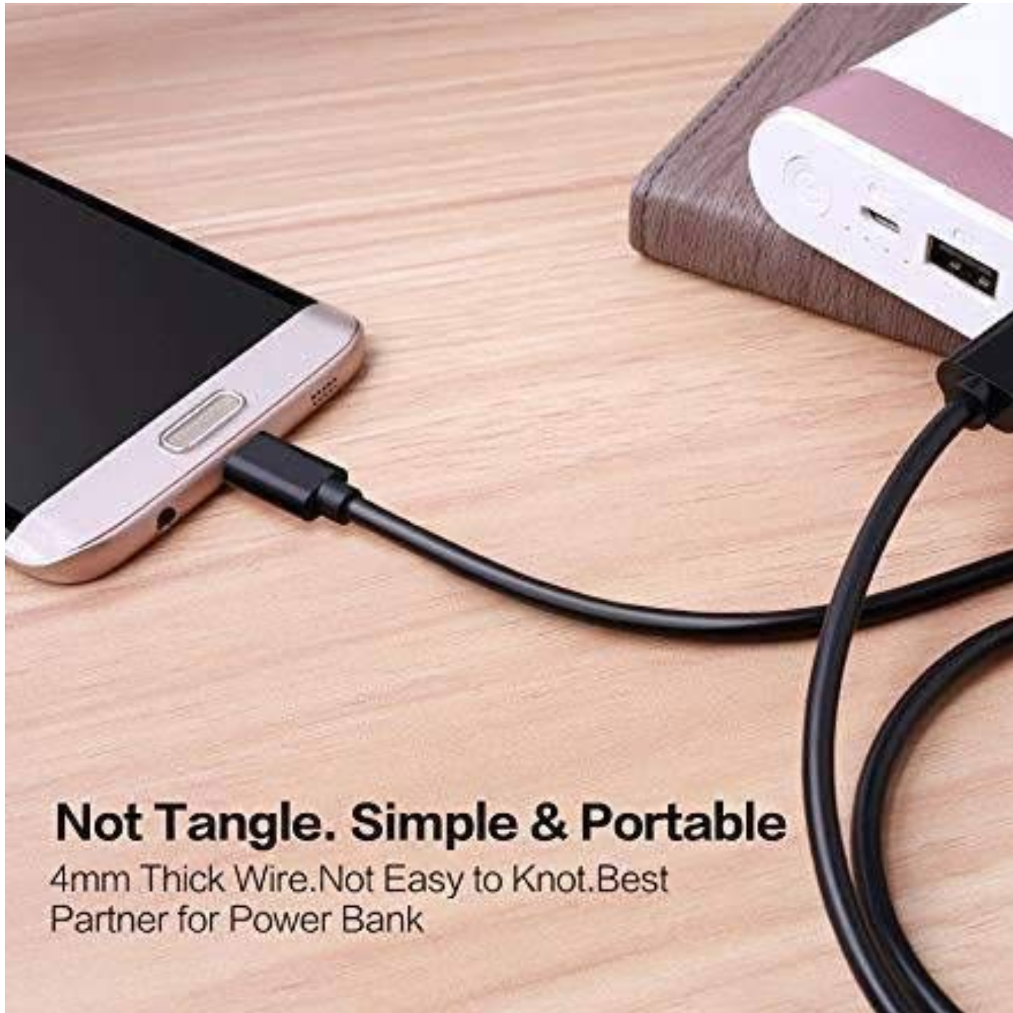 Micro USB Data Cable for All Purpose (Can be Used as Power Bank Cable & Charging Your Phone)