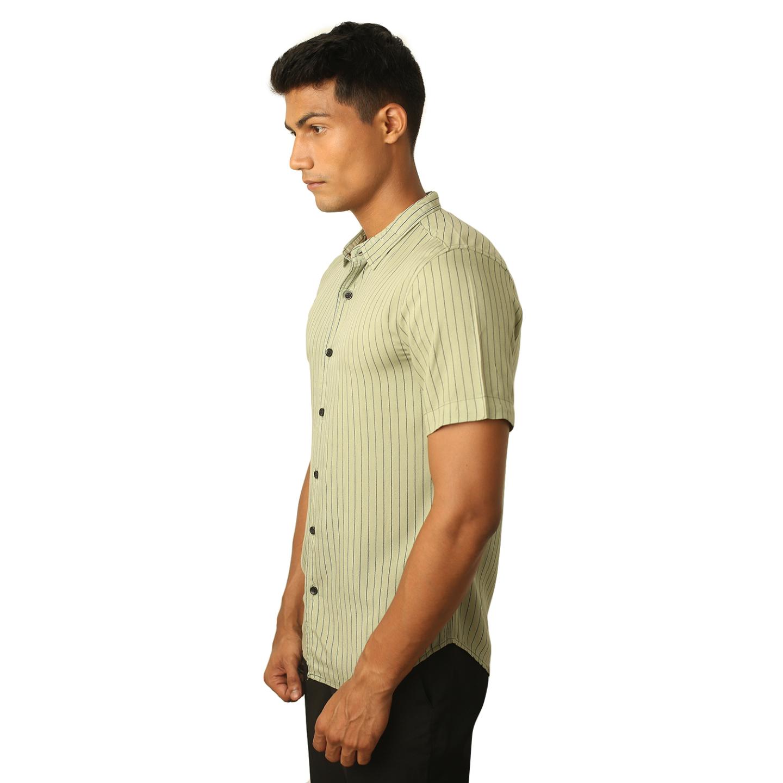 Destello Pistachio Pin stripes Shirt