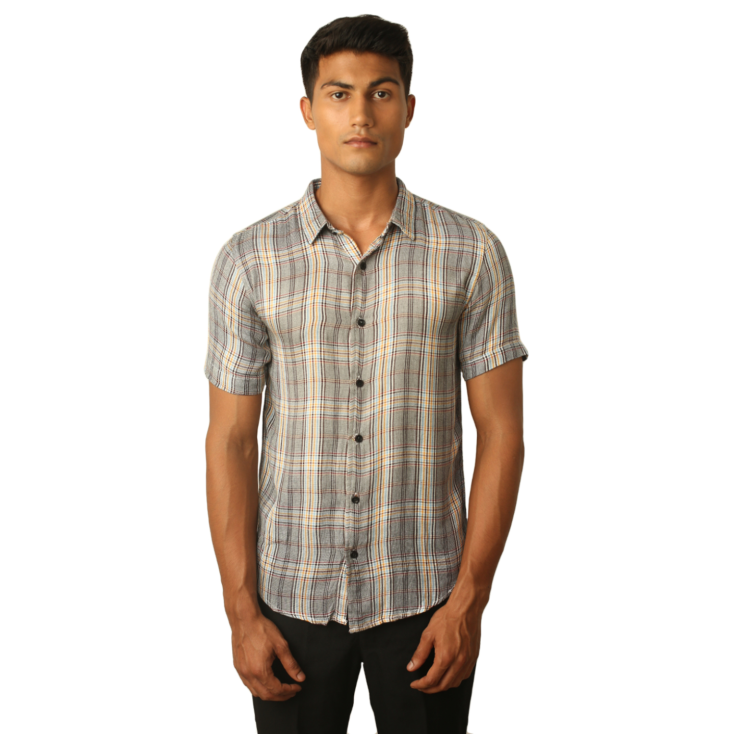 Destello Grey Tartan Check Shirt