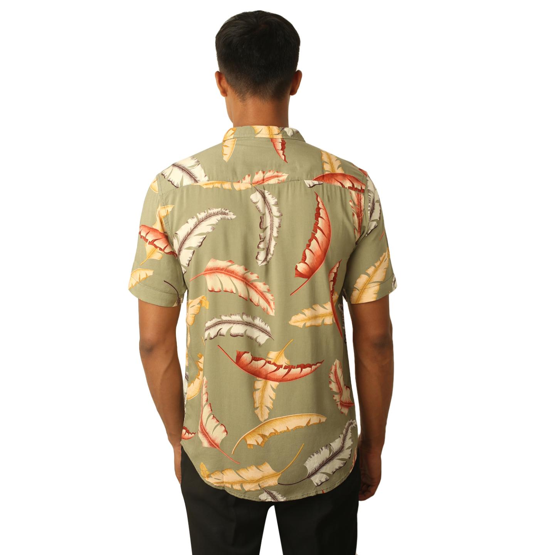 Destello Raphael Feather Print Shirt