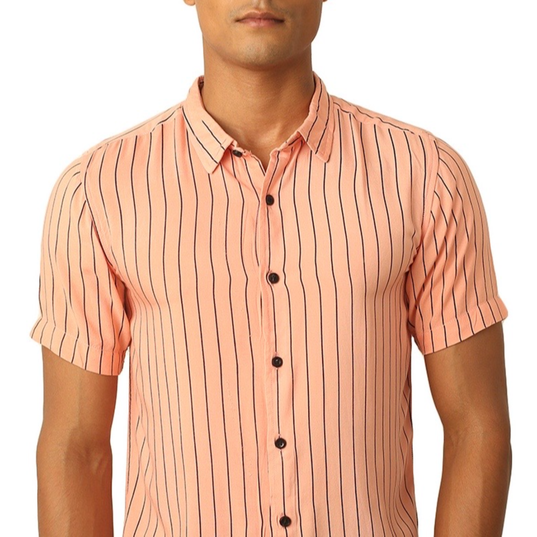 Destello Pink Lemonade Pin Stripes Shirt