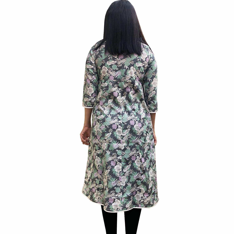 MCK Design GREY - MULTI COLOR 34TH Sleeve Kurtha