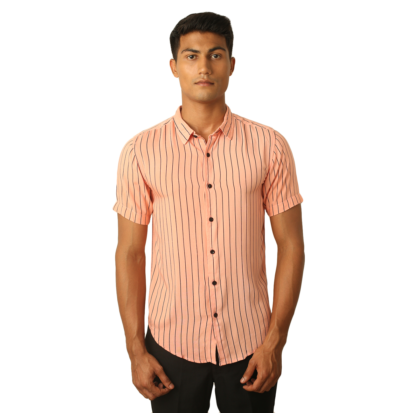 Destello Pink Lemonade Pin Stripes Shirt
