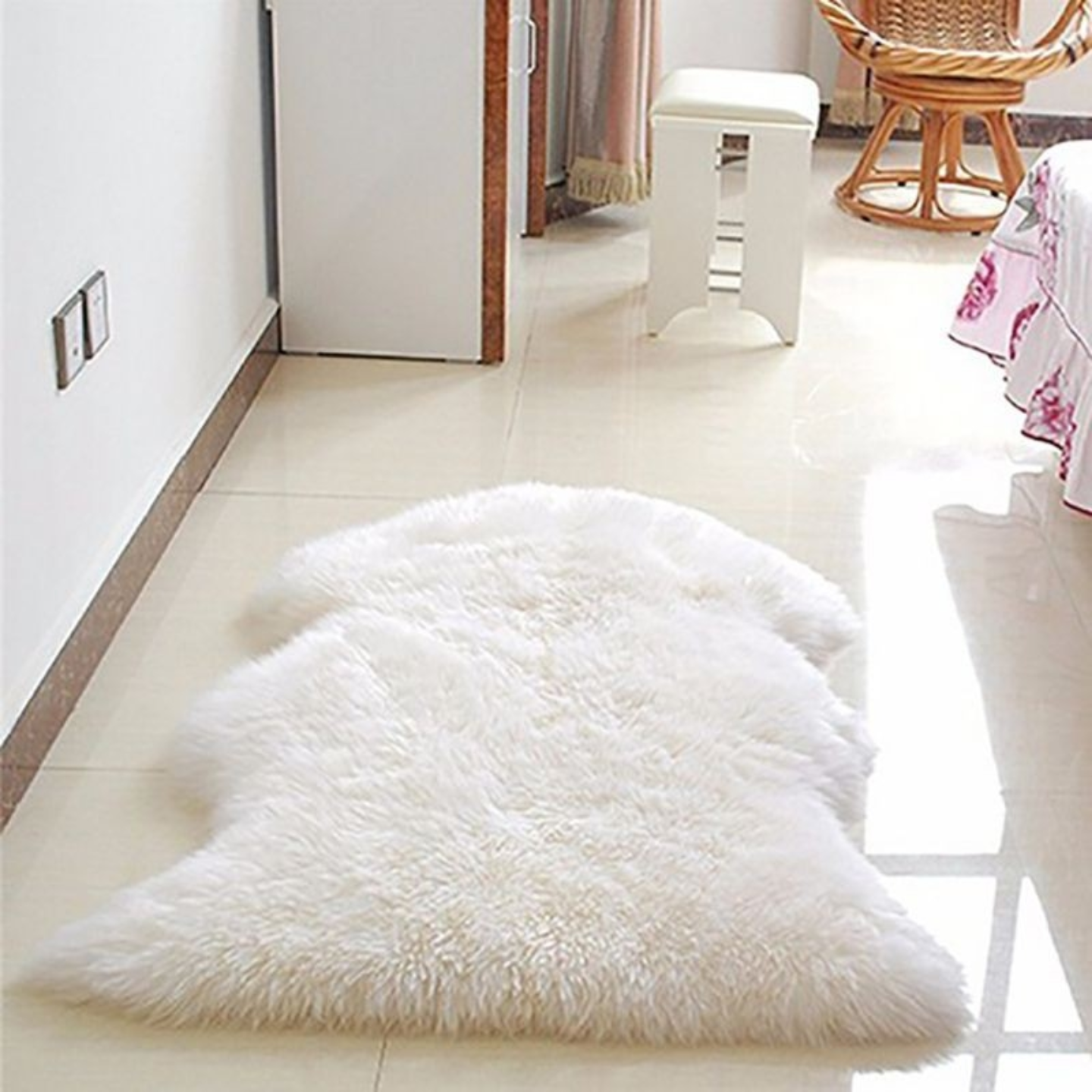 Soft Faux Sheepskin Rug  Anti Slip Mat/Sofa Cover