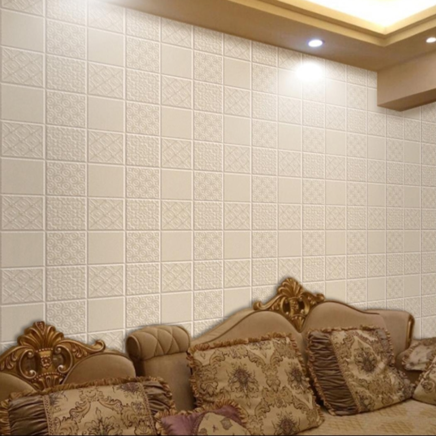 Modern Flowerish 3D Wallpaper PE Foam