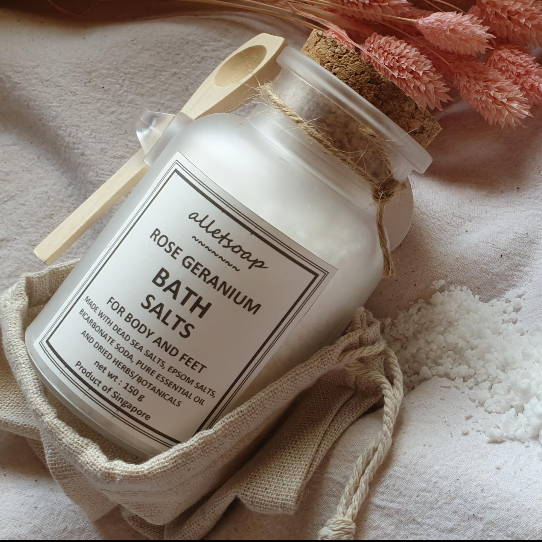 Bath Salts Rose Geranium 150g