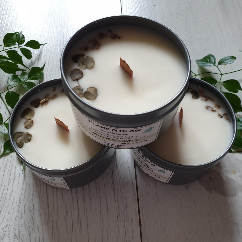 Soy Candle - Lavender Eucalyptus 6 oz