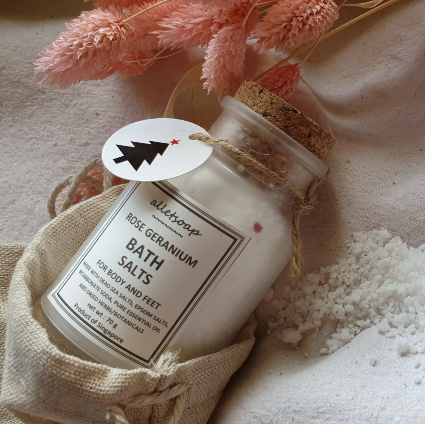 Bath Salts Rose Geranium 70g