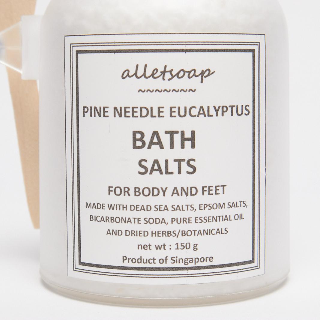 Bath Salts Pine Neddle Eucalyptus 70g