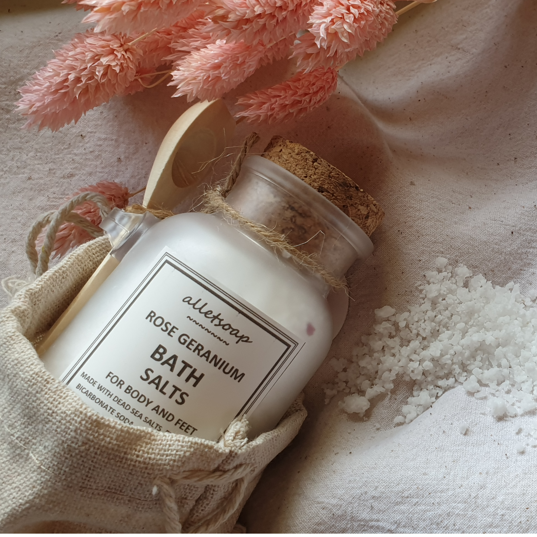 Bath Salts Rose Geranium 70g