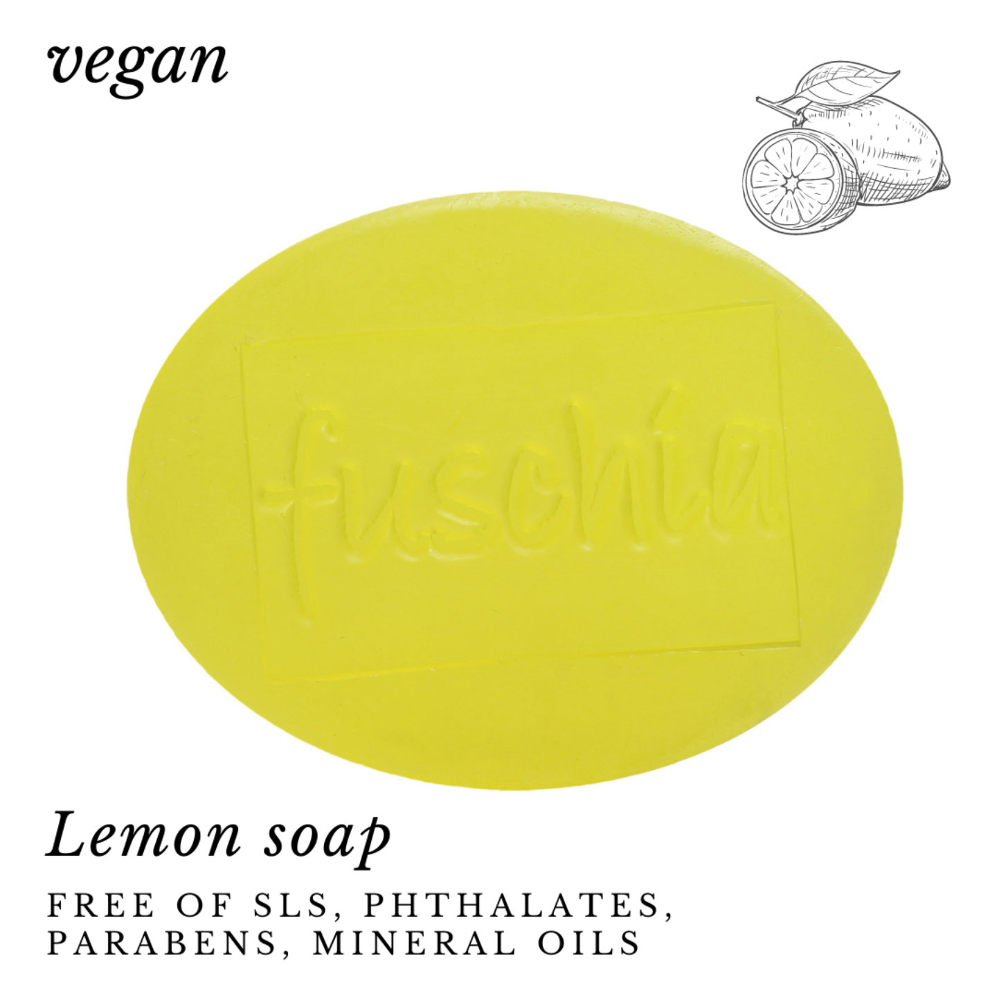 Fuschia - Lemon Natural Handmade Glycerine Soap