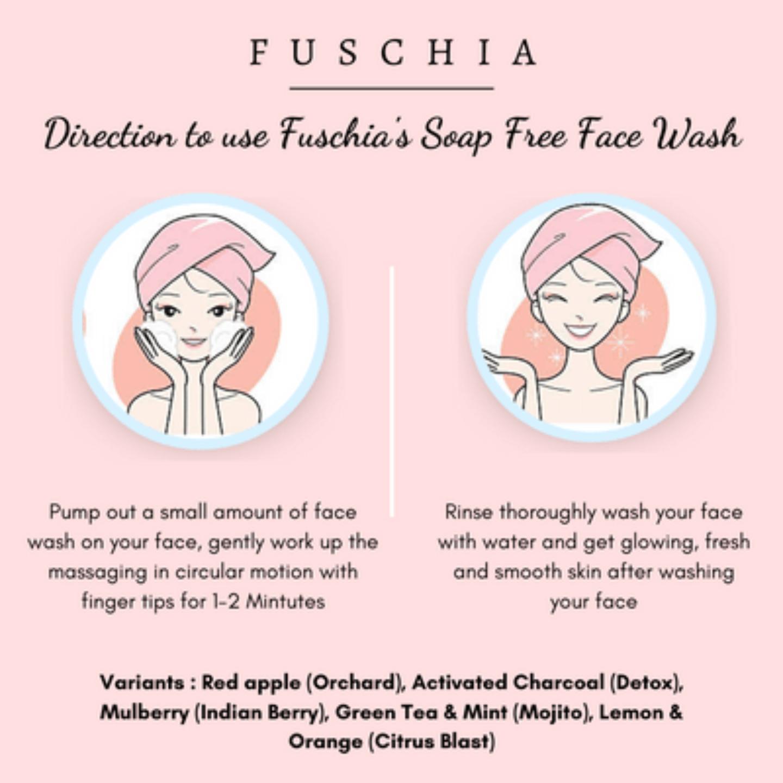 Fuschia Mojito Green Tea Mint Soap Free Face Wash - 30 ml
