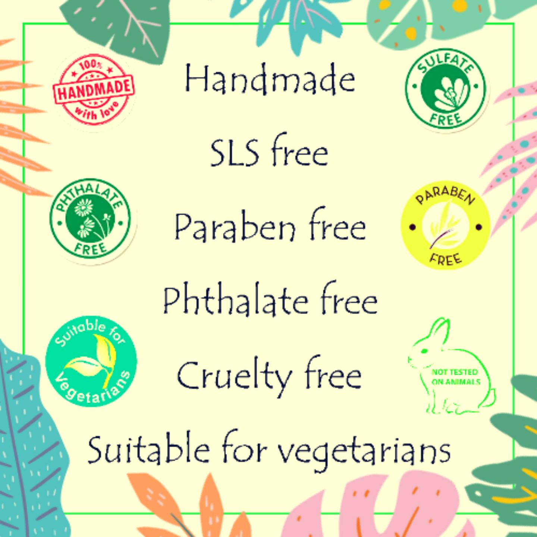 Fuschia - Peppermint Oil Natural Handmade Herbal Soap