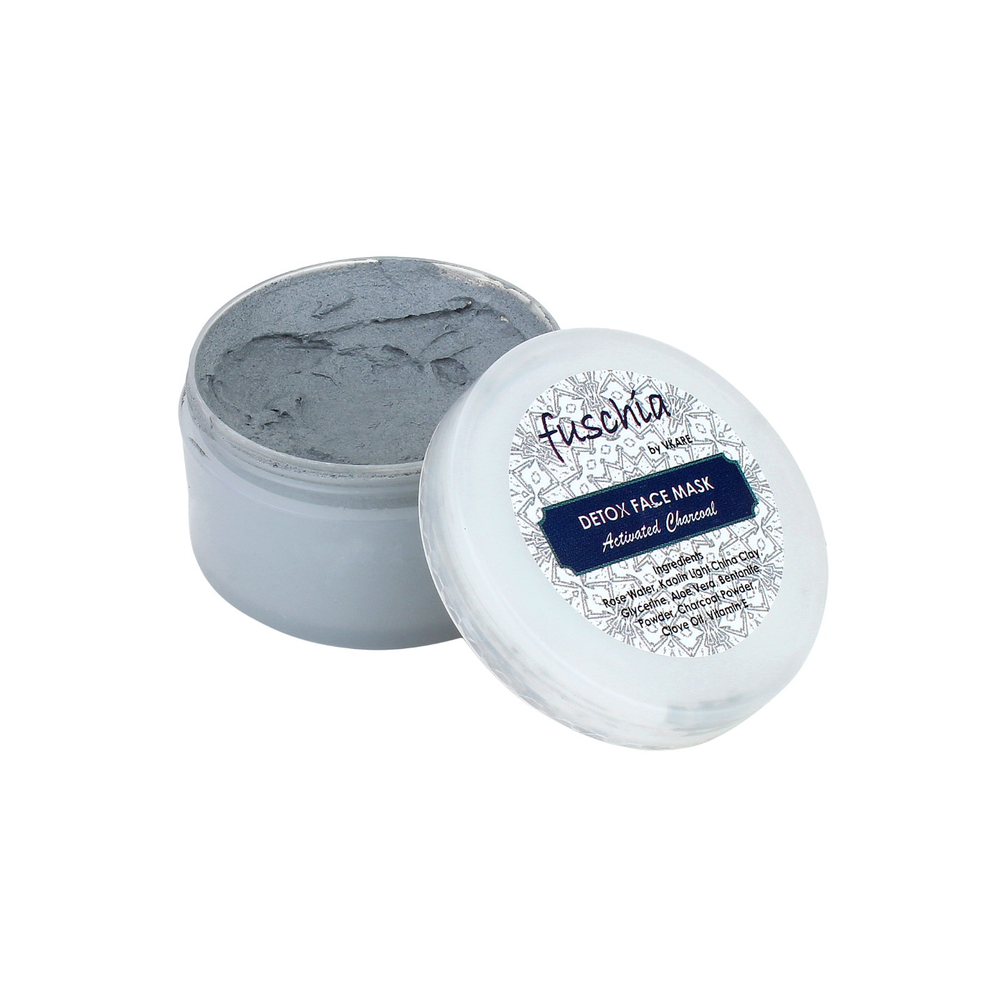 Fuschia Detox Face Mask - Activated Charcoal - 50 gm