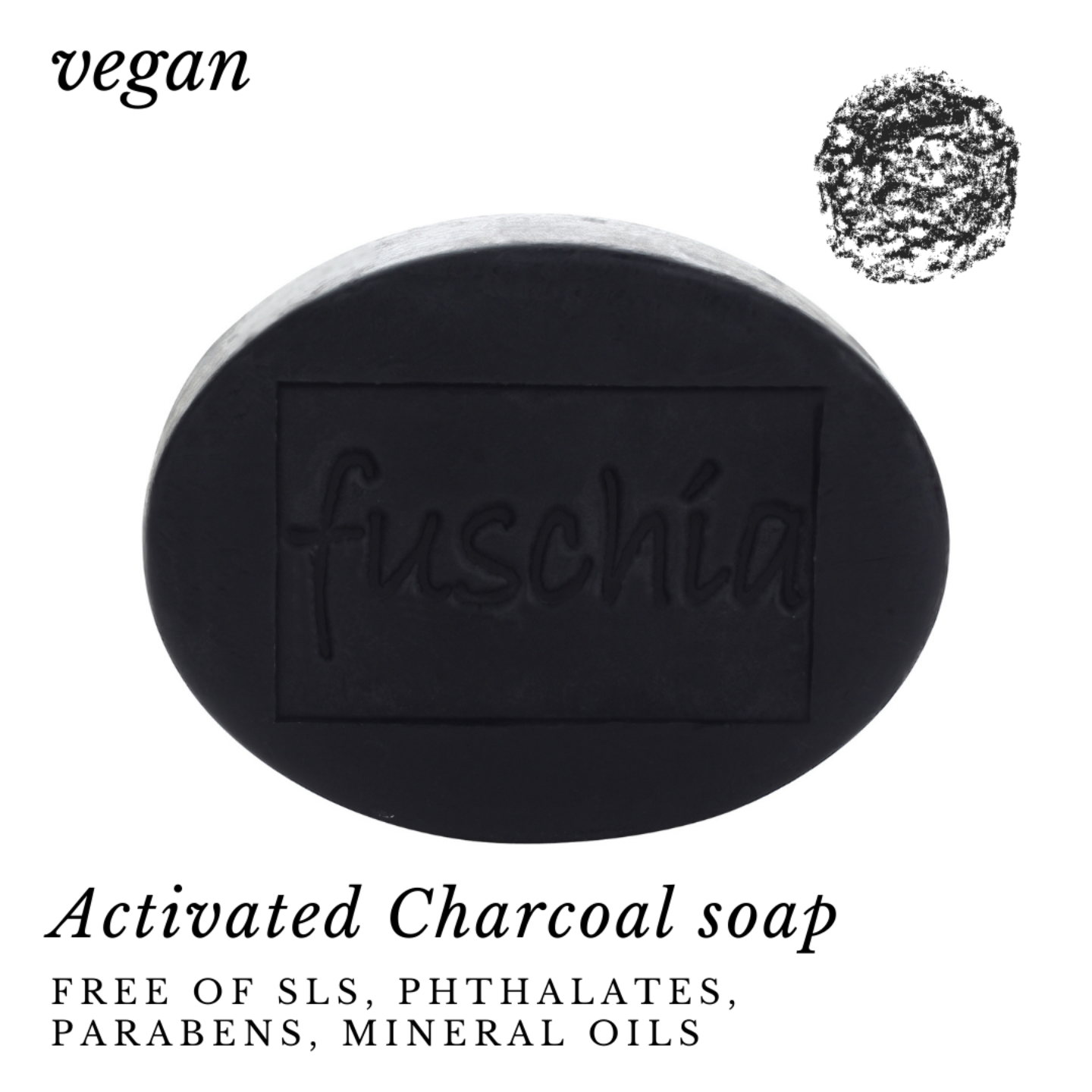 Fuschia - Activated Charcoal Natural Handmade Herbal Soap