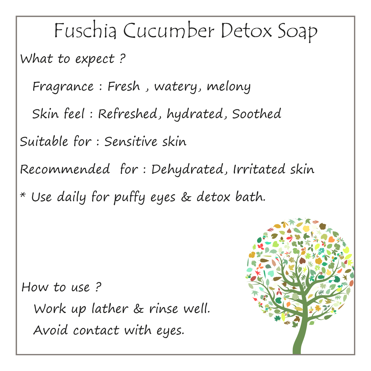 Fuschia - Cucumber Detox Natural Handmade Herbal Soap