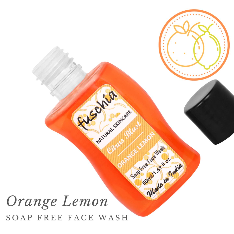 Fuschia Citrus Blast Orange Lemon Soap Free Face Wash - 50ml