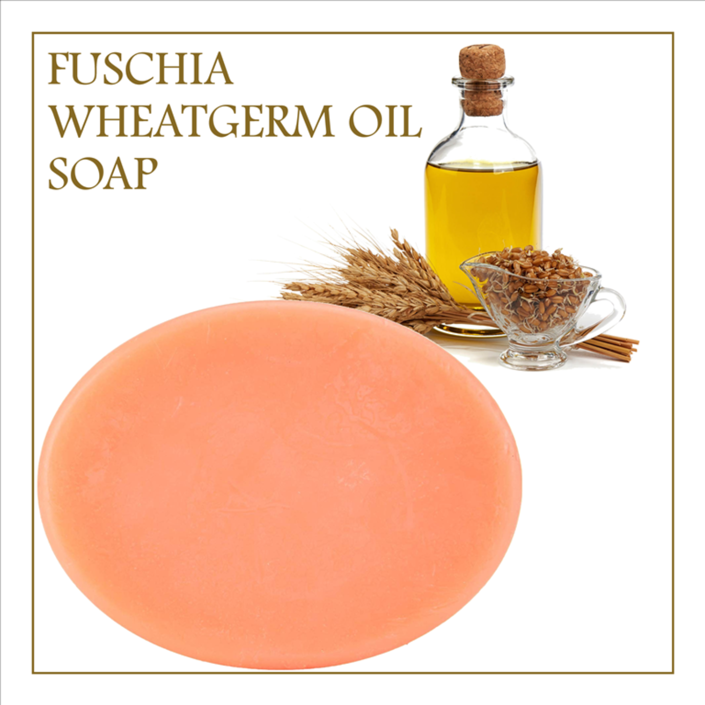 Fuschia - Wheatgerm Oil Natural Handmade Herbal Soap