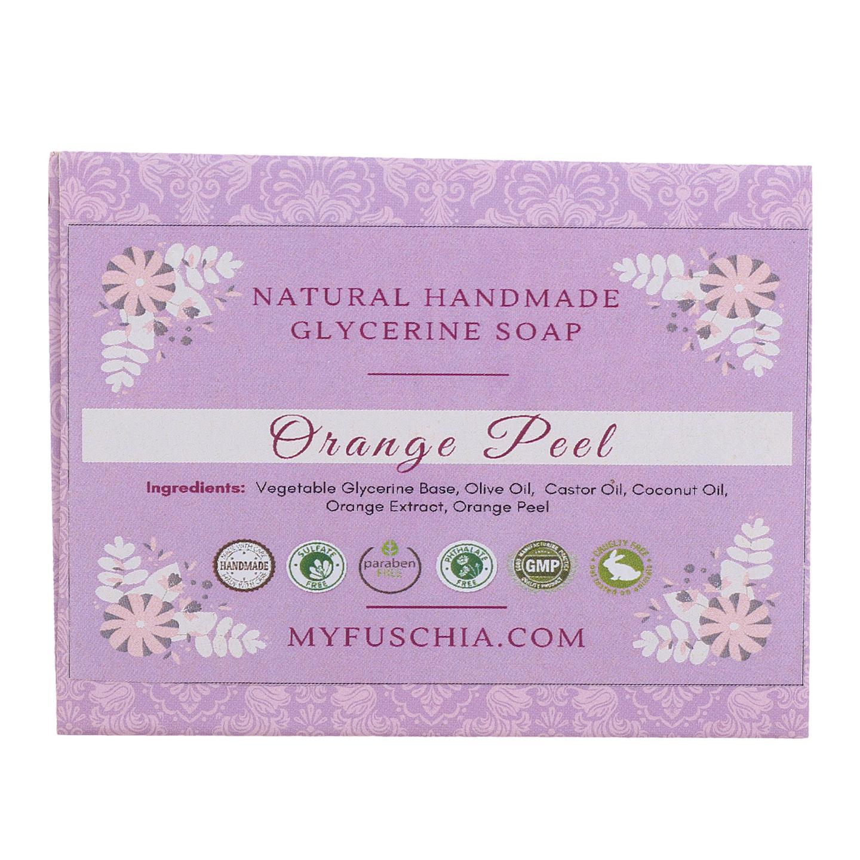 Fuschia - Orange Peel Natural Handmade Herbal Soap