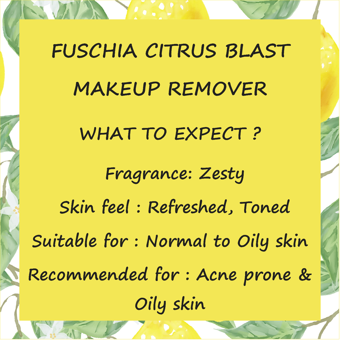 Fuschia Make-up Remover - Citrus Blast - 50 ml