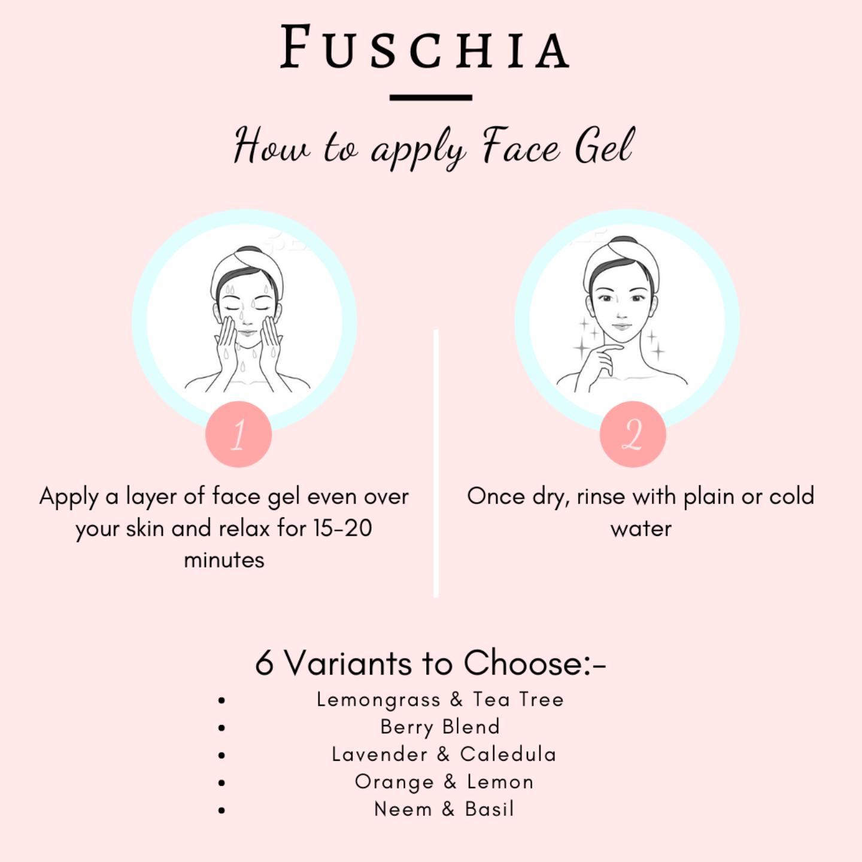 Fuschia Hydrating Face Gel - Lavender & Calendula-10g