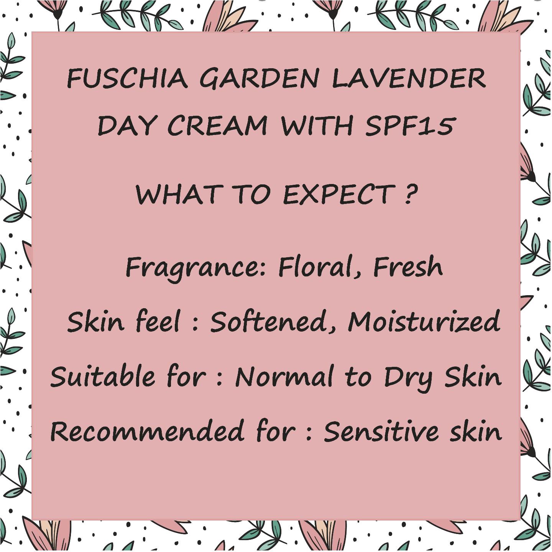 Fuschia - Garden Lavender Day Cream with SPF 15