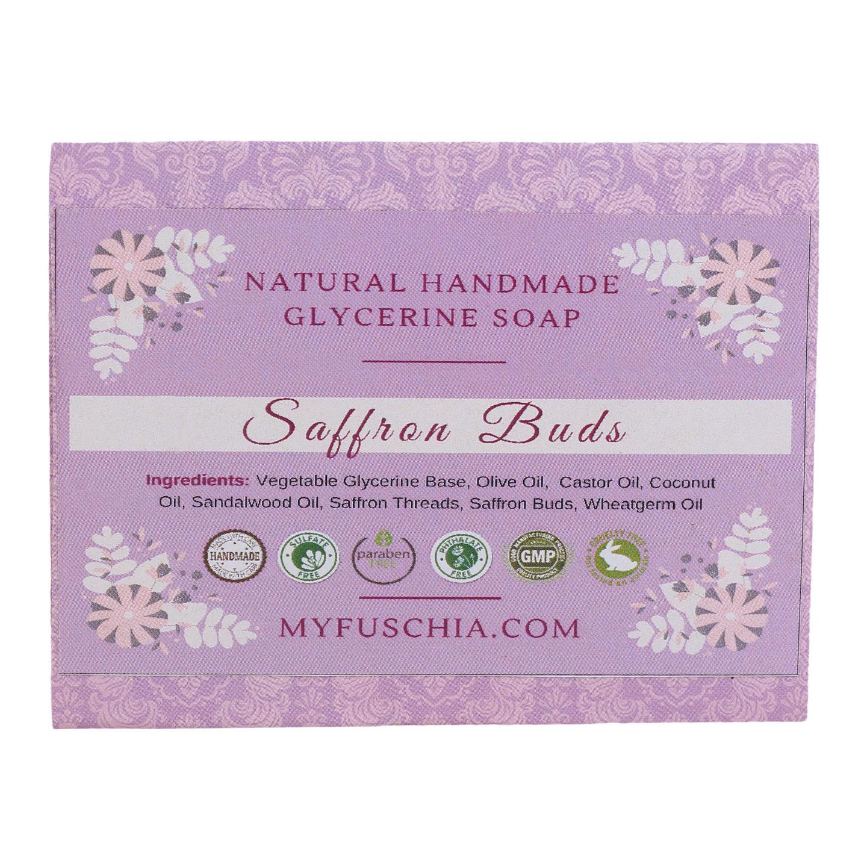 Fuschia - Saffron Buds Natural Handmade Herbal Soap