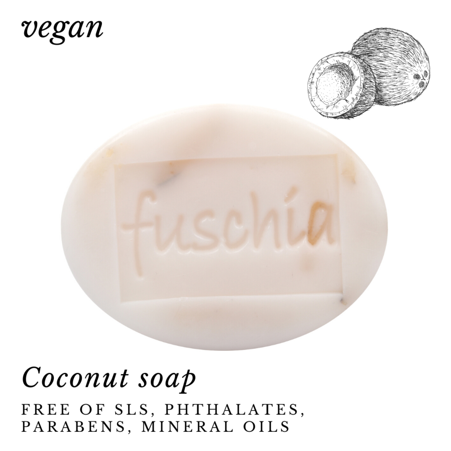 Fuschia - Coconut Natural Handmade Herbal Soap