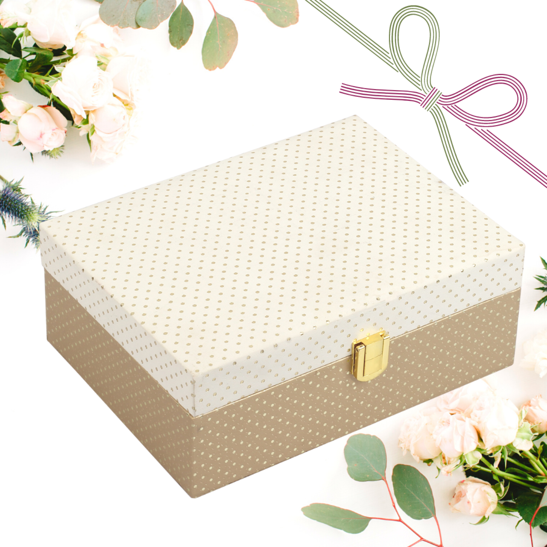 Festive Gift Box (Beige)